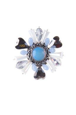 Брошь «Ослепительные звезды» (голубой, белый)