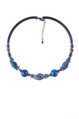 Колье-гривна «Рондо» (синий, черный)
