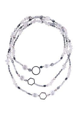 Бусы «Хрусталь в серебре»